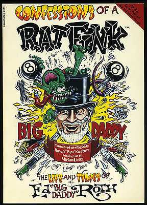 Ed Roth Autographed Book Confessions of a Rat Fink MINT w/ POSTER Big Daddy