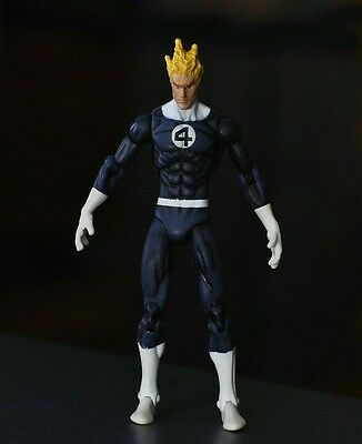 "SUPER HERO Fantastic Four HUMAN TORCH 3.75"" Loose Auction Figure ZX164"