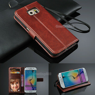 For Samsung S7 S8 S9 Plus Luxury Leather Flip Card Slot Stand Wallet Phone Case