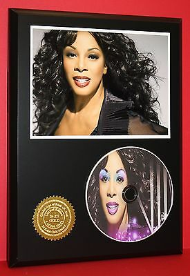 DONNA SUMMER LTD EDITION PICTURE CD DISC DISPLAY W/ FREE CHRISTMAS GIFT BOX