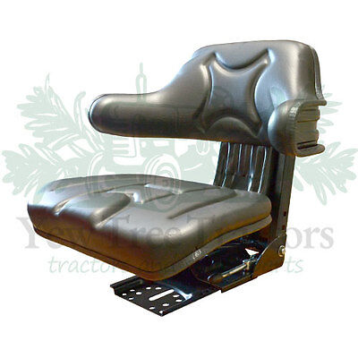 Tractor Suspension Seat Black Forklift Dumper mower Universal *GREAT QUALITY*