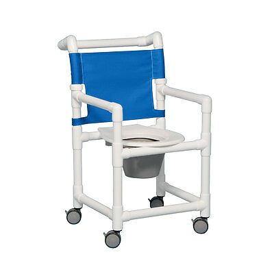 """Select Shower Chair Commode 17"""" Clearance Blue"""