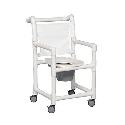 "Select Shower Chair Commode 17"" Clearance White"
