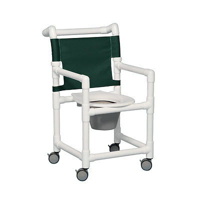 "Select Shower Chair Commode 17"" Clearance Forest Green"