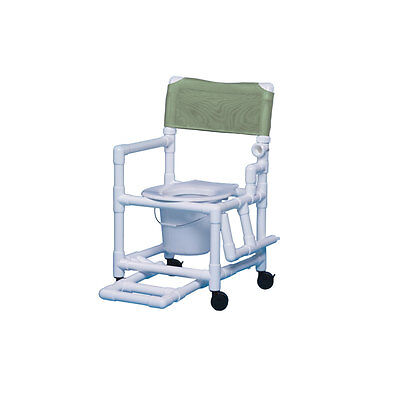 """Shower Chair Commode with Footrest & Left Drop Arm 16""""-Autumn Fern"""