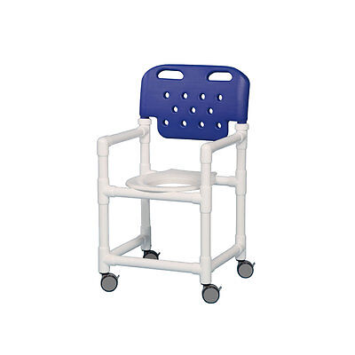 """Shower Chair with Molded Backrest 17"""" Blue"""