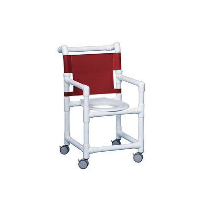 "Select Shower Chair 17"" Clearance Maroon"