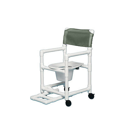 """Shower Chair Commode with Footrest 16"""" Clearance-Autumn Fern"""