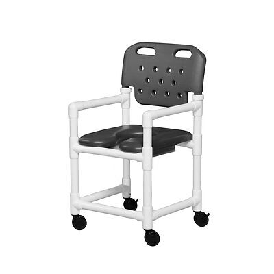 """Soft Seat Shower Chair Molded Backrest 20"""" Gray"""