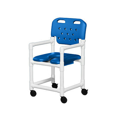 "Soft Seat Shower Chair Molded Backrest 17"" Blue"