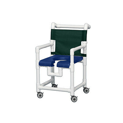 "Shower Chair with Open Front Seat Navy 20"" Clearance Forest Green"