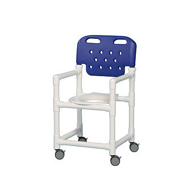 "Shower Chair with Molded Backrest 20"" Blue"