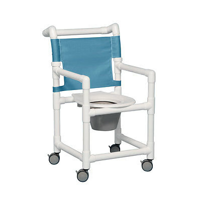 """Select Shower Chair Commode 20"""" Clearance Suncast Blue"""
