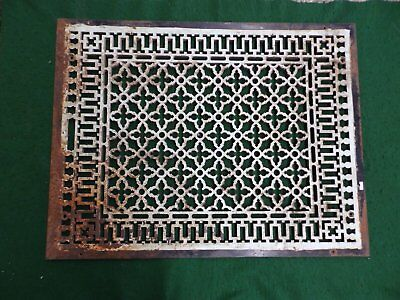 Large Antique Gothic Cast Iron Cold Air Return Vent Vintage Old Hardware 4592-15