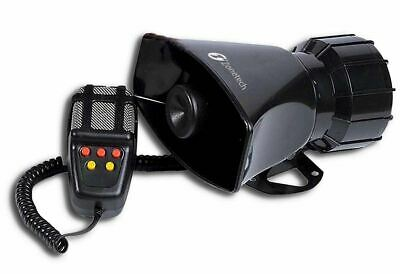 Zone Tech Car Police 12V 60W Electric Air Horn Siren Speaker 5 Sound Tone 300db