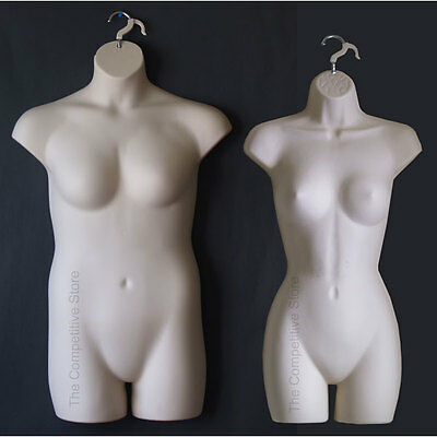 Fleshtone Female Dress & Plus Size Mannequin Forms - Display S-M And 1x-2x Sizes