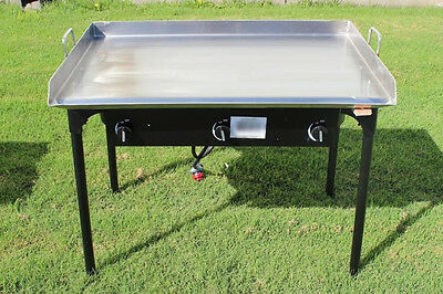 NEW CONCORD Stainless Steel 36 x 22 Flat Top Grill w/ Triple Burner Stand Stove