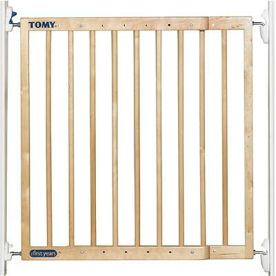 Tomy Baby Extending Wooden Security Gate Stairs Safety Barrier One Or Two Way