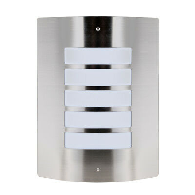 Stainless Steel  Chrome Outdoor Exterior Flush Security Bulkhead Wall Light NEW