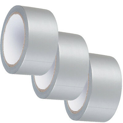 3 X Duck strong Adhesive Duct Gaffa Gaffer Waterproof Cloth Tape SILVER 48mmx50m