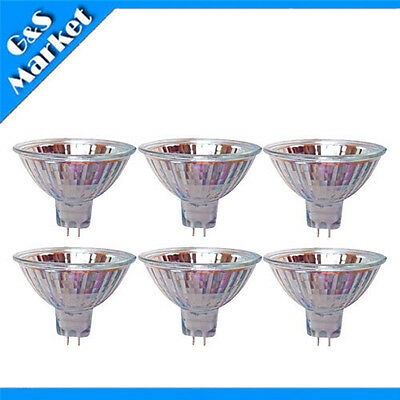 6pcs MR16 12V 50W 50WATTS Halogen Light Bulb Lighting Bulbs Flash Lamp Tubes