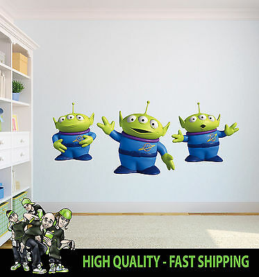 Printed Wall Art Wall Toy Story Aliens Graphic Sticker Decal