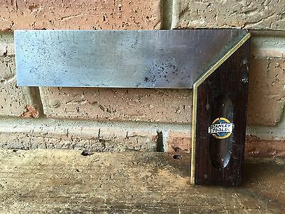 Vintage Hand Tools STANLEY  7.5inch Rosewood SQUARE Old Antique Tool #7