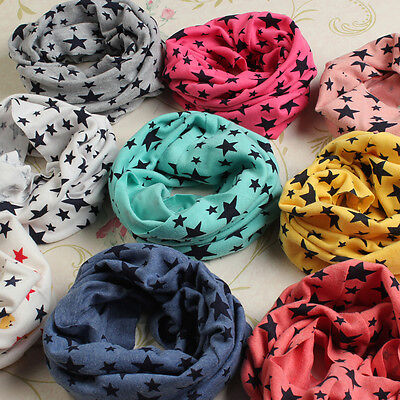 BEINGQ New Kid Stars Unisex Children Cotton Ring Scarf Baby Knitting Wrap 8Color