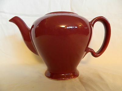 Vintage McCormick Burgundy Colored Tea Pot Missing Lid