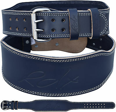 """RDX Weight Lifting 4"""" Leather Gym Belt Back Support Strap Training Fitness WS AU"""