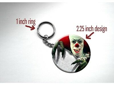 It Pennywise the Clown Poster Horror Stephen King Key Chain