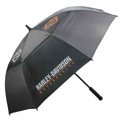 Harley-Davidson Bar & Shield HD Script Golf Umbrella, Black & Charcoal UMB516804