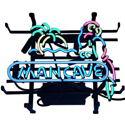 Neon Man Cave Bar Pub Parrot Sign Drink Beach Beer Party corona Glass Happy Hour