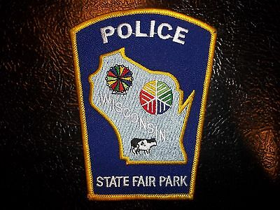 Wisconsin State Fair Park Police Department Patch WI Sheriff