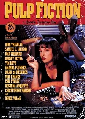 "Pulp Fiction Poster ""cover"" Licensed ""brand New"" Uma Thurman John Travolta"