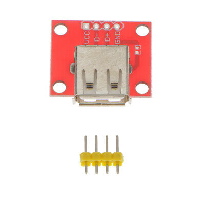 5Pcs Female Micro USB to DIP Adapter Converter 2.54mm PCB Breakout Board FIUULK
