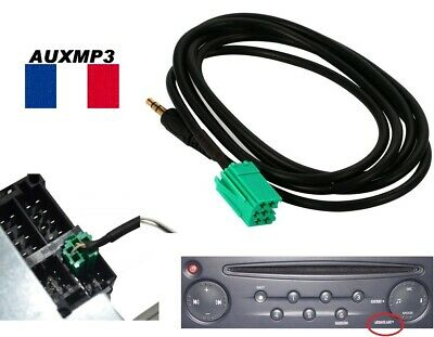 Auxiliary Cable mp3 RENAULT car stereo UDAPTE LIST 6 pin, megane scenic 2 2 aux