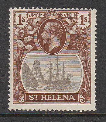 ST HELENA 1922 1/- WITH BROKEN MAINMAST VARIETY SG 106a MINT.