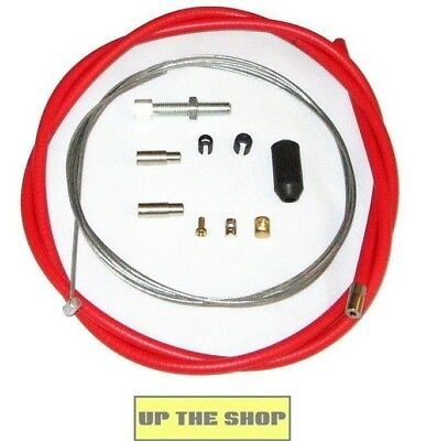 Venhill Universal Red Clutch Cable Motorcycle Kit, 1.35m, U01-1-100