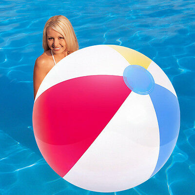 "BESTWAY INFLATABLE 24"" PANEL BEACH BALL KIDS CHILDRENS POOL WATER GAME PLAY BALL"