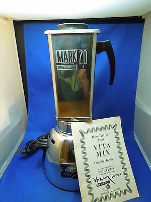 Vintage Vita Mix Super Powered Mark 20 A Stainless Steel Blender