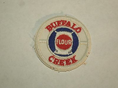 Vintage Buffalo Creek Flour Advertising Railroad Embroidered Sew On Patch