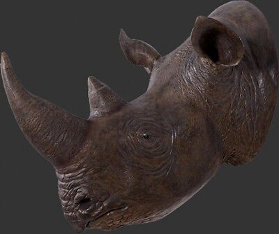 Black Rhinoceros Head Wall mount