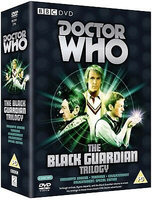 DR WHO 125-127 - THE BLACK GUARDIAN TRILOGY - Doctor Peter Davison - NEW Rg2 DVD