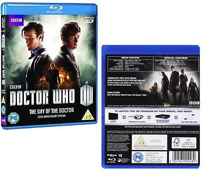 DR WHO 2013 THE DAY OF THE DOCTOR - 50th Anniversary Special RgFree 3D + BLU-RAY