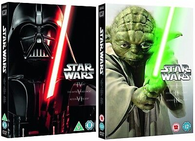 STAR WARS 1-6 I-VI 1977-2005 ORIGINAL + PREQUEL TRILOGY COLLECTION R2 DVD not US