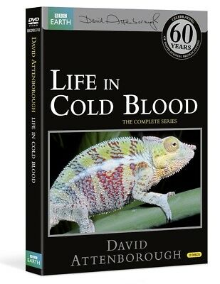 LIFE IN COLD BLOOD (2008): COMPLETE David Attenborough BBC Series R24 DVD not US