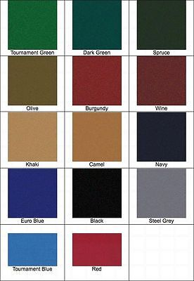 New Pro 8' Oversized Proform High Speed Pool Table Cloth Felt - Red - Ships Fast