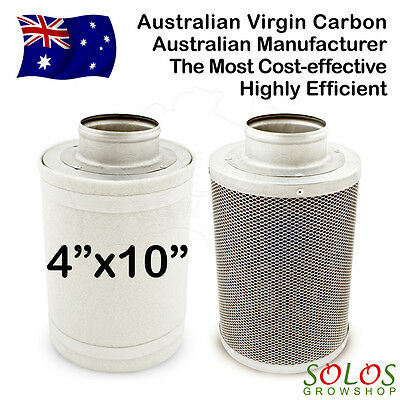 """4""""/100mm HYDROPONIC CARBON FILTER FOR INLINE EXHAUST FAN GROW TENT VENTILATION"""