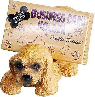 FREE SHIPPING BIG SKY CARVERS BEARFOOTS COCKER SPANIEL BUSINESS CARD HOLDER